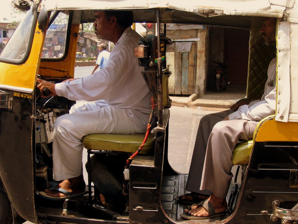 Mumbai rickshaw India