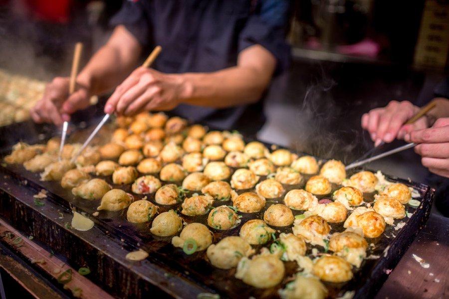 Osaka Japan food takoyaki