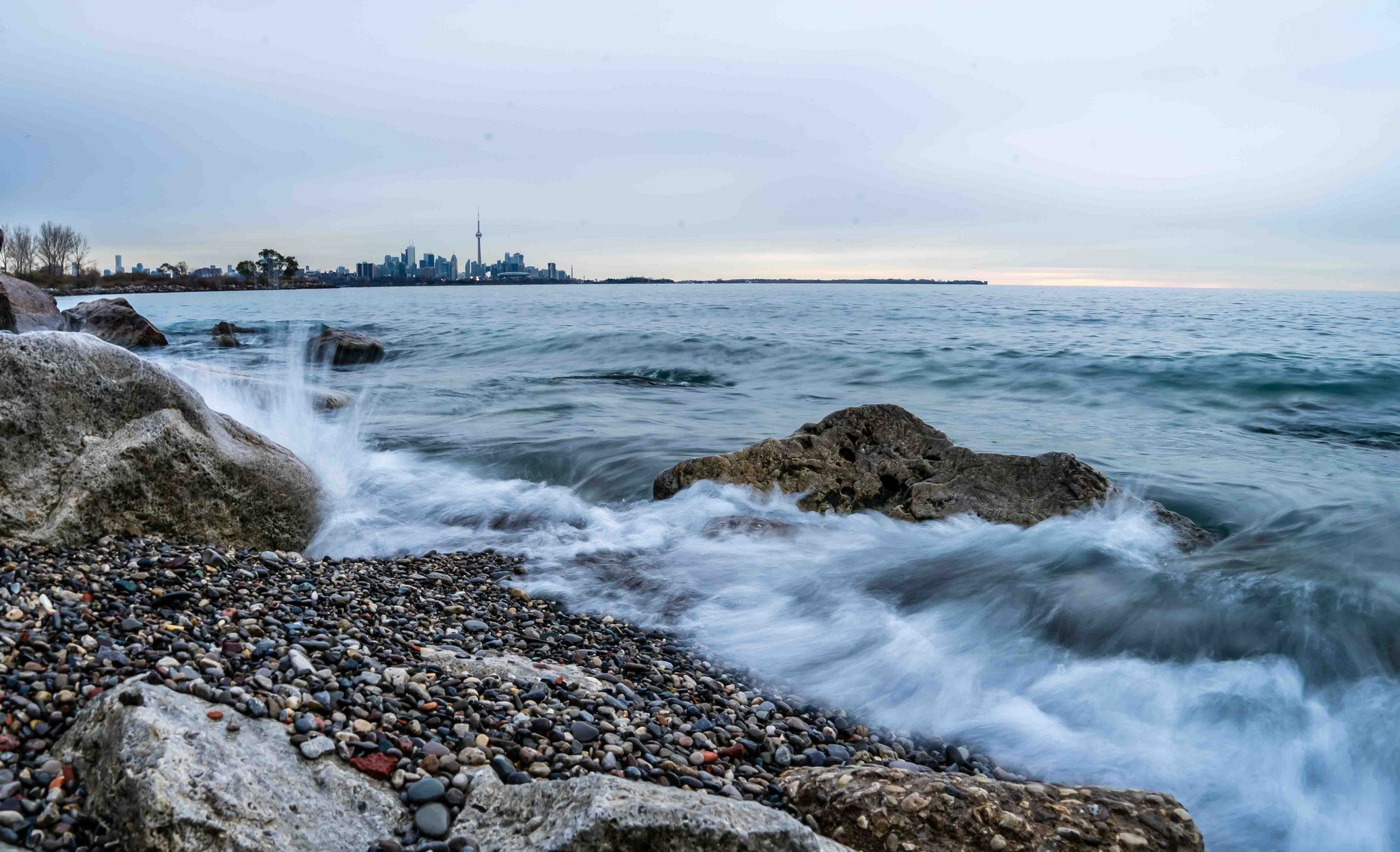 Toronto skyline coast