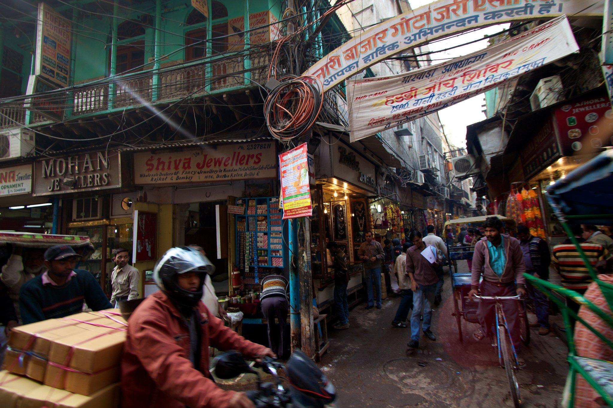 Delhi streets market