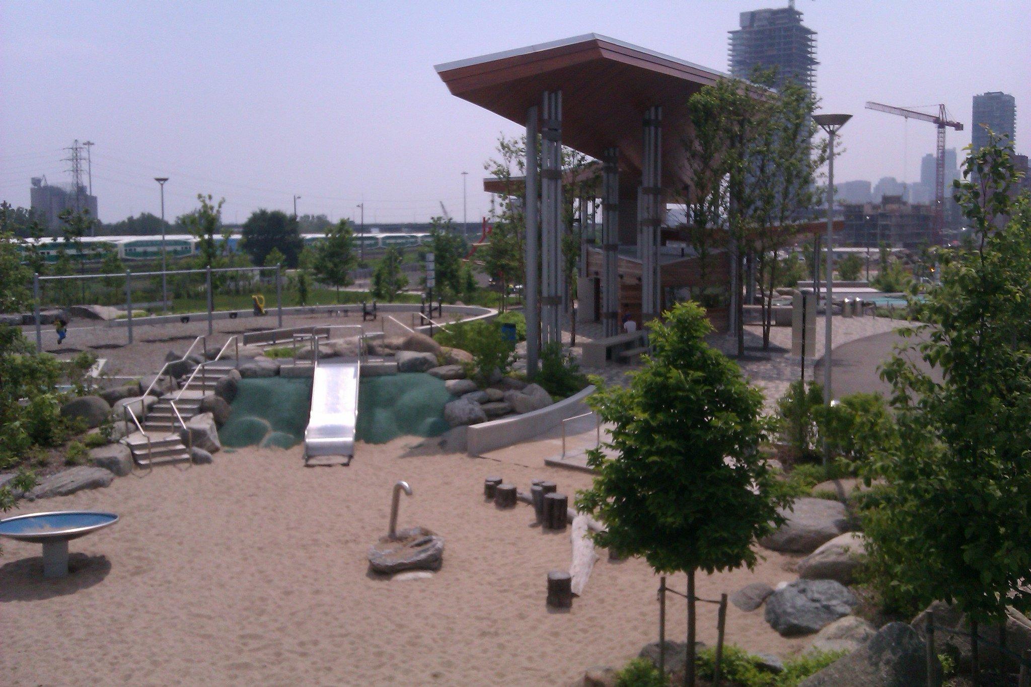 Corktown Common park Toronto