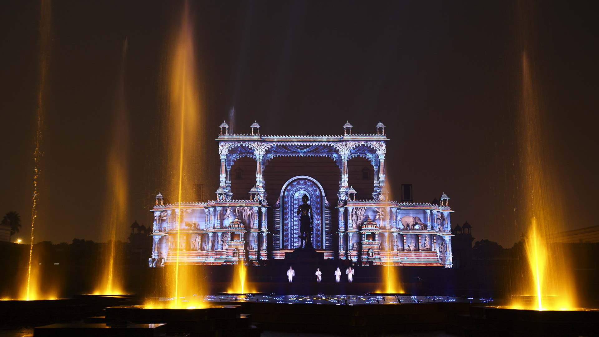 Delhi water light show