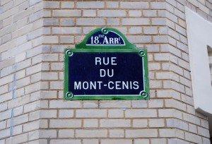 Montmartre Paris Rue du Mont-cenis street sign