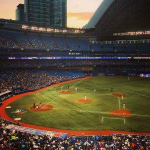 Toronto baseball game Rogers Centre