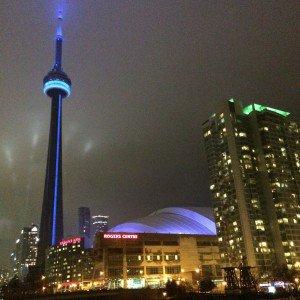 Toronto CN Tower night
