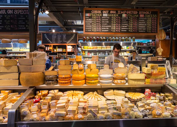 food Cheese Counter inside Toronto's St.Lawrence Market