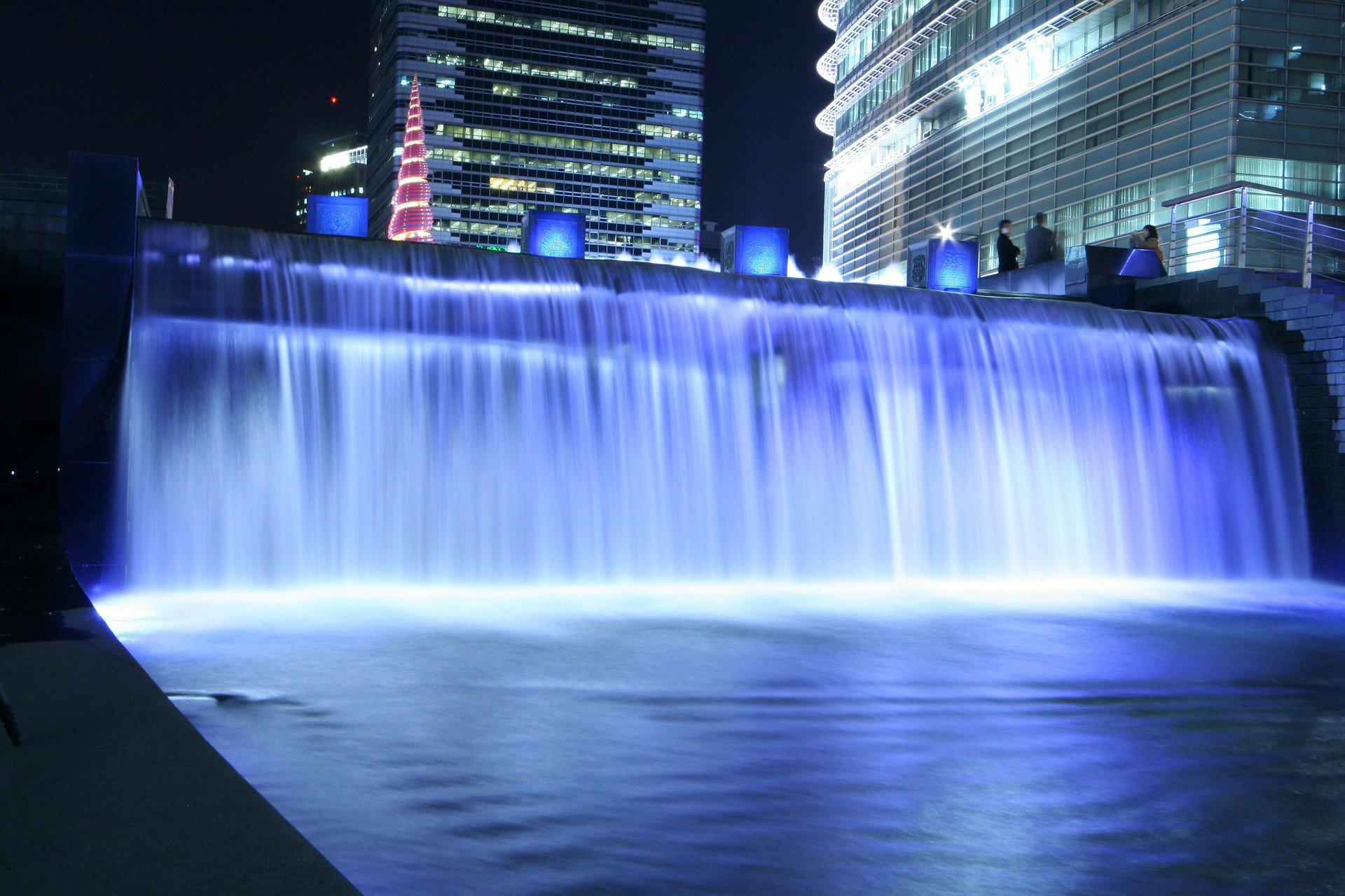 Seoul waterfall