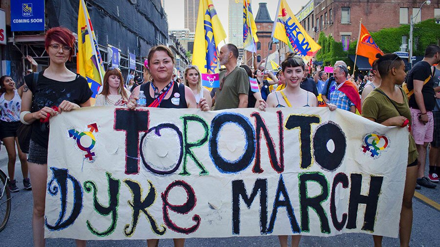 Toronto pride dyke march