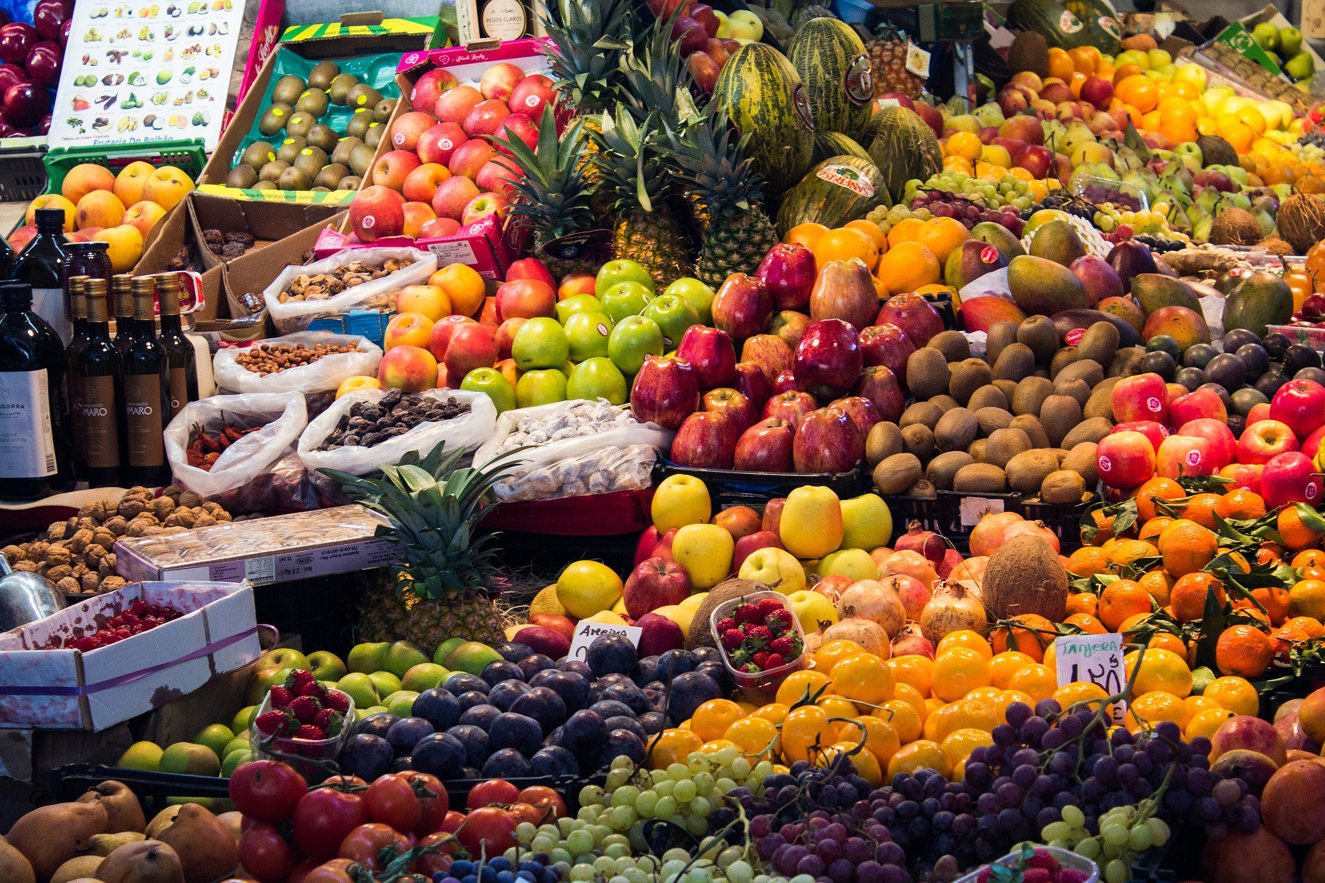 Marrakesh food shopping market
